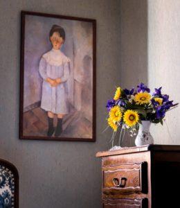 un peinture au mur
